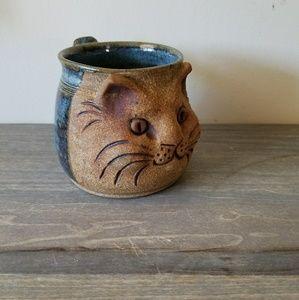 Other - Vintage Cat Glazed Pottery Mug